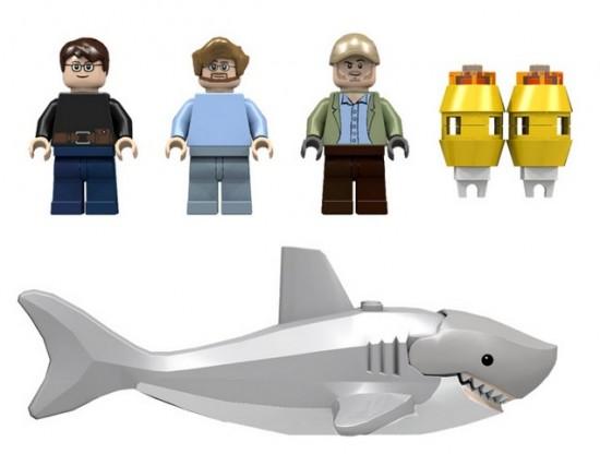 JAWS LEGO Set minifigs