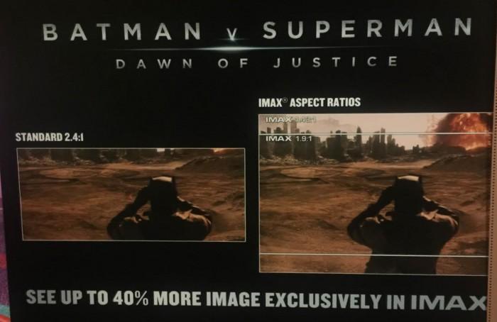 Batman V Superman: Dawn of Justice imax