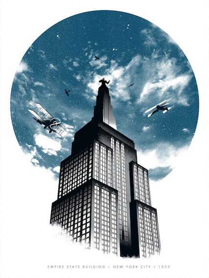King Kong poster by Justin Van Genderen