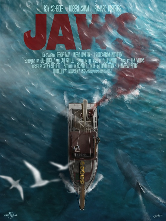 Jaws poster print by Andy Fairhurst