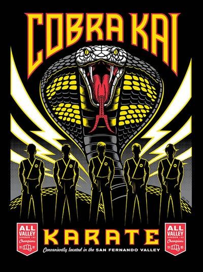 Eric Tan's Cobra Kai print