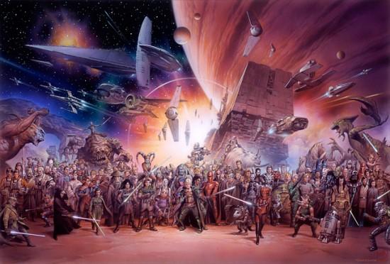 Original STAR WARS Artwork By Tsuneo Sanda