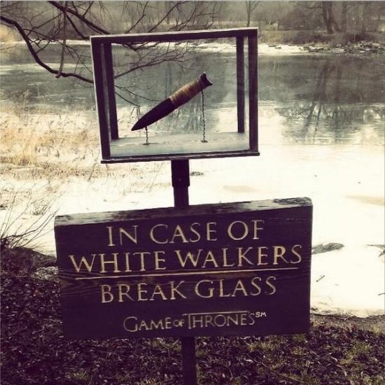 In Case Of White Walkers, Break Glass