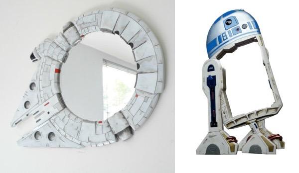 Millennium Falcon And R2-D2 Star Wars Mirrors
