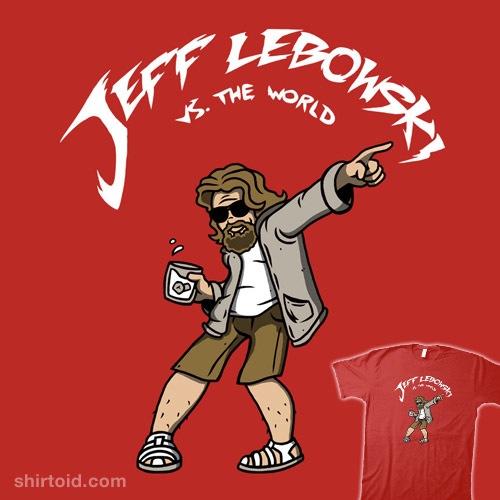 Lebowski vs. The World t-shirt