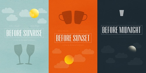 Before Sunrise, Before Sunset, Before Midnight posters by Chay Lazaro