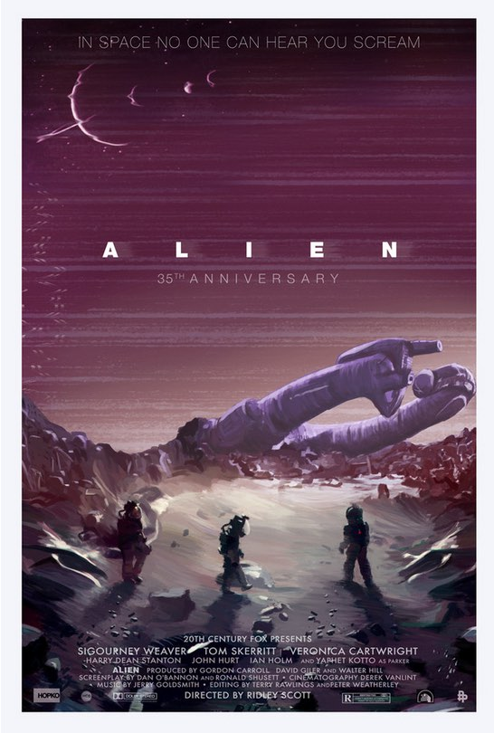 """Alien 35th Anniversary"" Large By Scott Hopko"