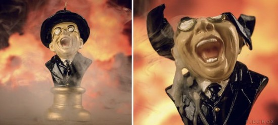 Clever Raiders Of The Lost Ark Melting Nazi Face Candle