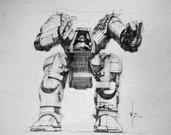 Aliens' Power Loader Was Way More Massive in Syd Mead's Concept Art