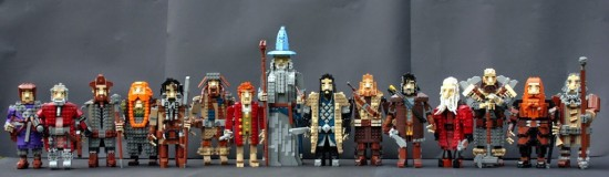 The Company of Thorin Oakenshield... built in Lego