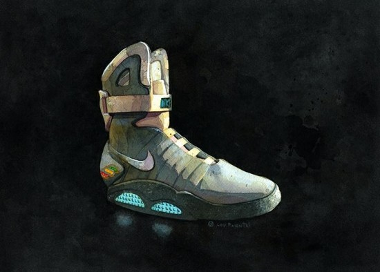"""""""Nike AirMags"""" Painting by Lou Pimentel"""