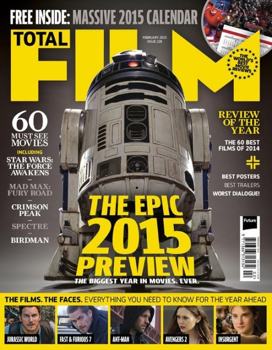 R2-D2 is on the Cover of the Latest Issue of Total Film Magazine.