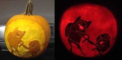 Adventure Time pumpkin carving