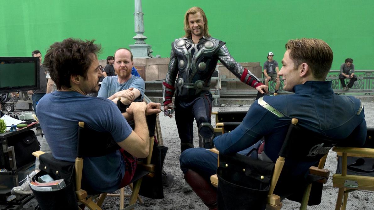 Film Set Interview The Avengers Stars Robert Downey Jr And Chris Evans