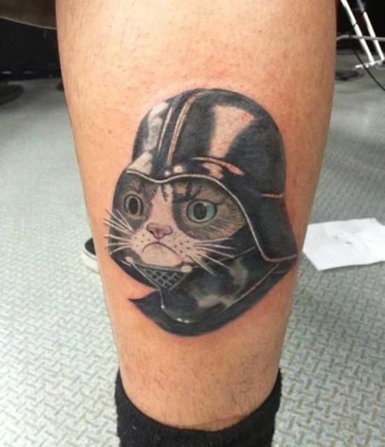 Grumpy Vader Tattoo