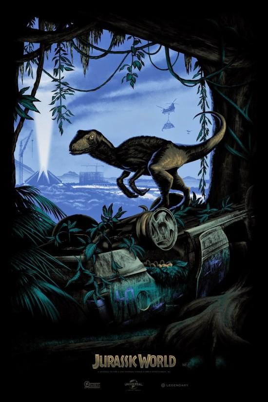 Mark Englert's variant Jurassic World comic con poster