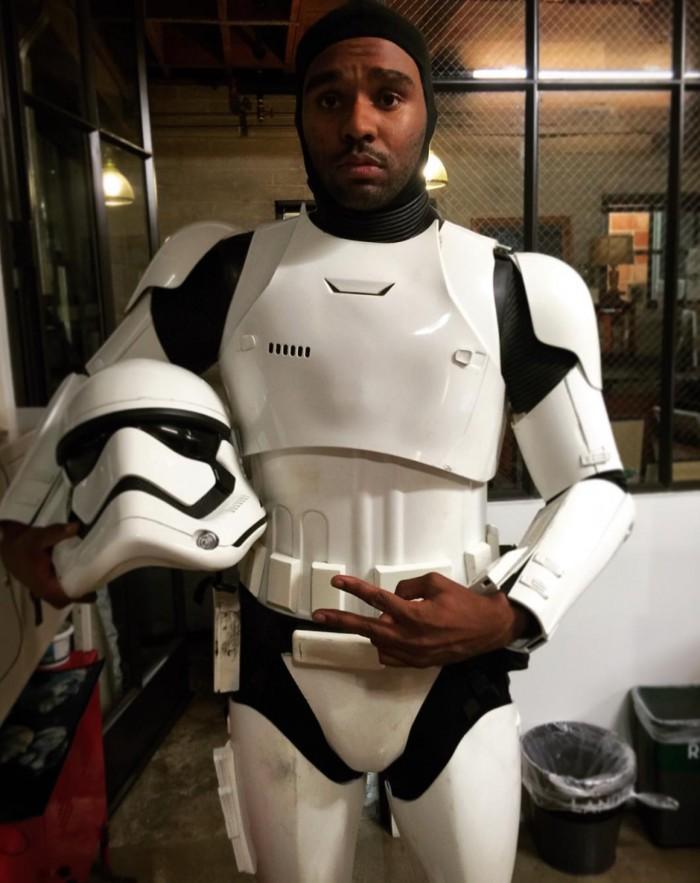 jd Dillard in costume for Force Awakens