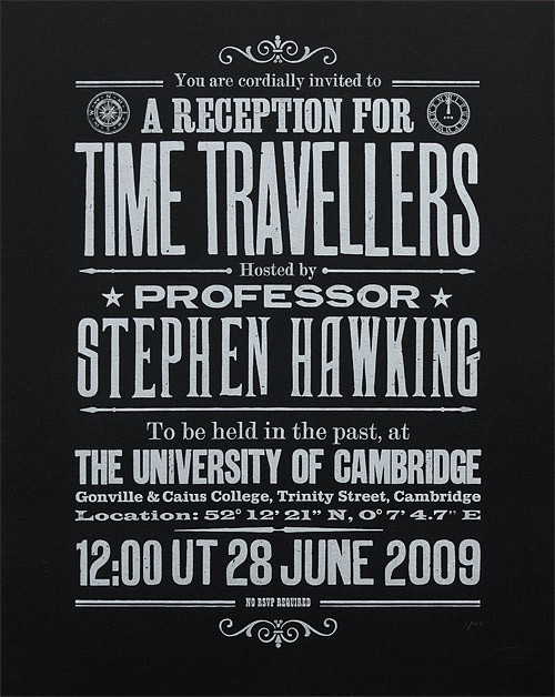 Stephen Hawking's Time Travelers Reception