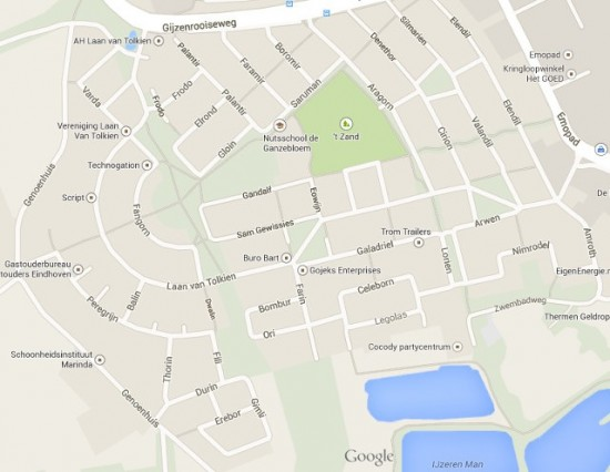 Netherlands Town With Tolkien Character Street Names