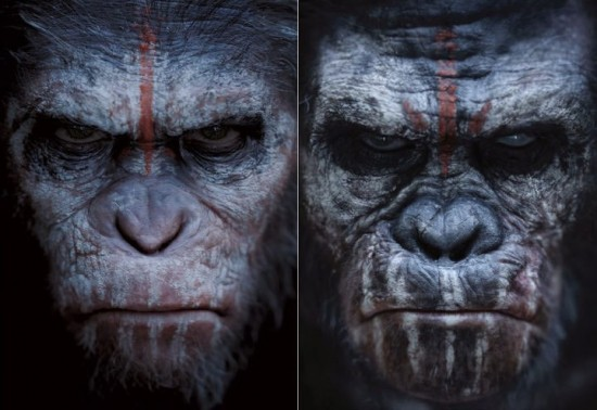 Caesar and Koba from Dawn of the a Planet of the Apes
