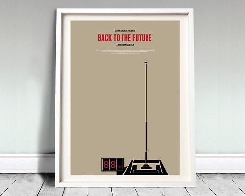 Back to the Future poster by David O'Mara