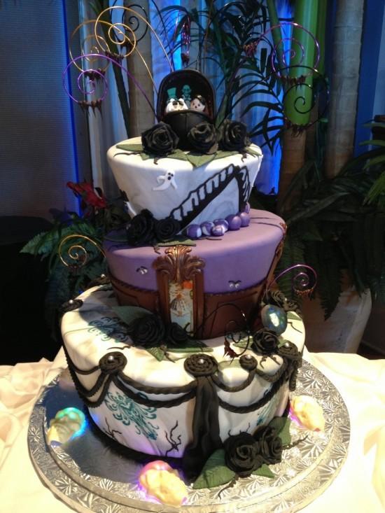 Haunted Mansion wedding cake