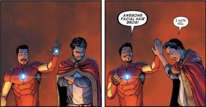 Doctor Strange and Iron Man
