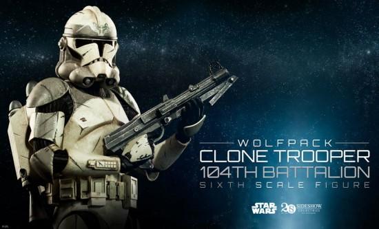 Wolfpack Clone Trooper 104th Battalion Figure