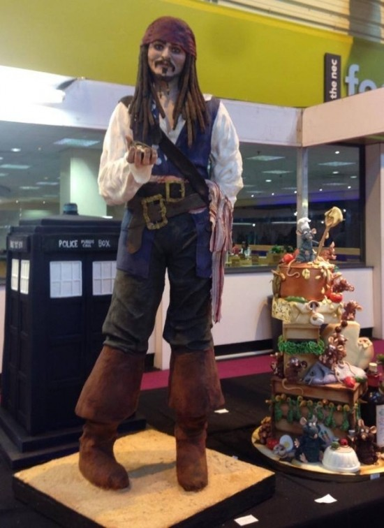 A Life-Size Cake-Version of Captain Jack Sparrow