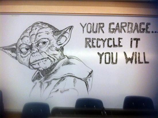 Janitor Draws Beautiful, Nerdy Art On School Whiteboards