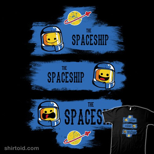 The Good, the Bad, and the Spaceship t-shirt
