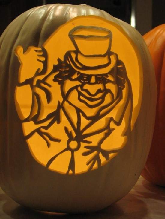 Hitchhiking Ghosts Pumpkin Carvings