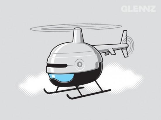 Robocopter t-shirt