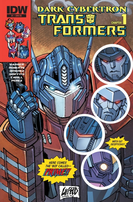 LIEFELD Homages Himself! TRANSFORMERS: DARK CYBERTRON #1 Cover Debut