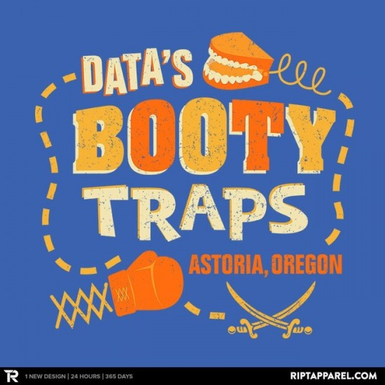 Data's Booty Traps t-shirt