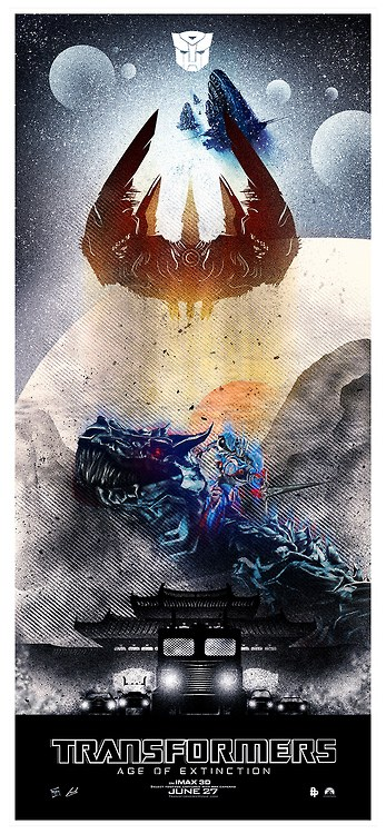 Transformers: Age of Extinction poster by Luke Butland