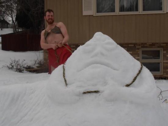 Jabba The Snow Man and, um, Leia