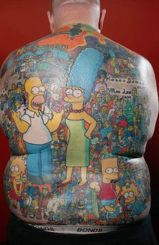 Guy Gets 203 Simpsons Character Tattoos