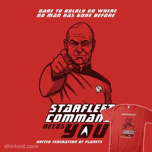 Starfleet Command Needs You t-shirt