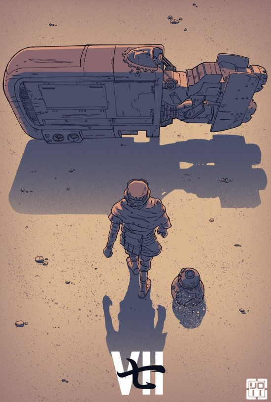 Akira inspired Star Wars: The Force Awakens art by Laurie Greasley
