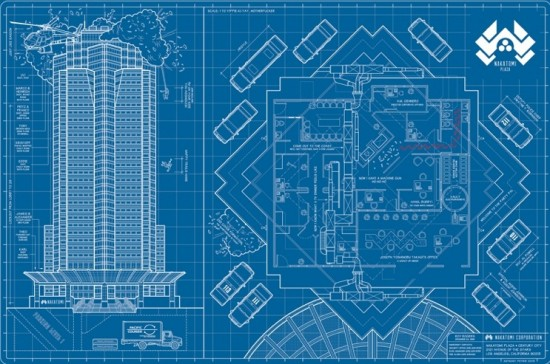 Nakatomi Footprint By Anthony Petrie