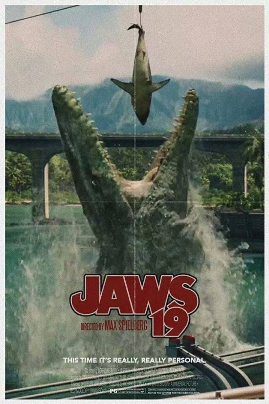 Jurassic World/Back to the Future 2 poster mashup