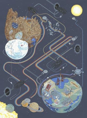 "Andrew DeGraff ""Path of Trek"" print"