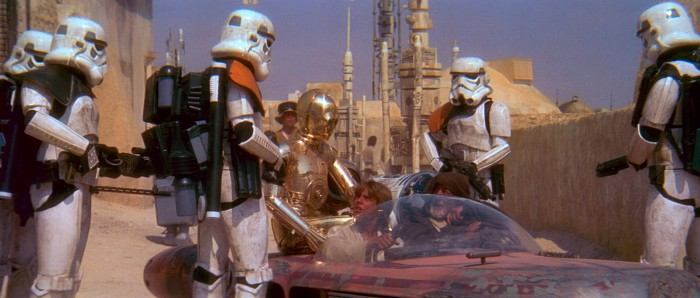 Star Wars droids we're looking for stormtroopers