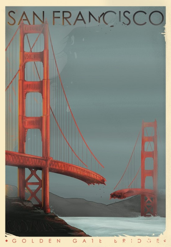 Berkay Daglar's San Francisco Golden Gate Bridge Tourism Poster