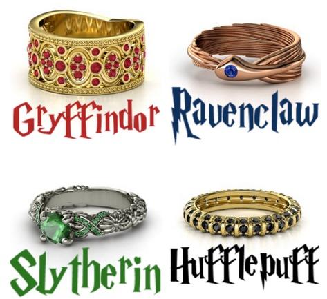 Hogwarts House Ring Designs