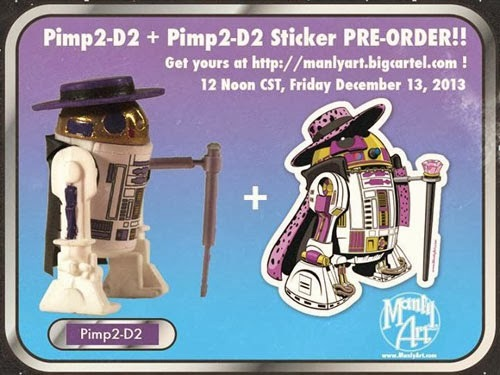 Pimp2-D2 Collectible & Sticker from Jason Chalker