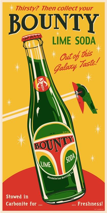 Bounty Soda screenprint by Steve Thomas