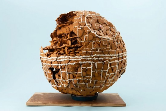 Death Star made of Gingerbreads