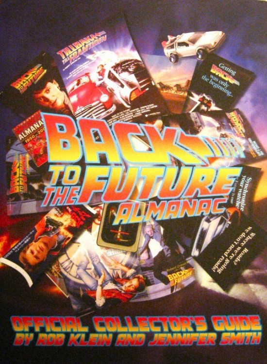 Dust Jacket of the New BACK TO THE FUTURE Collectibles Almanac